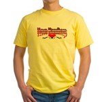 I Love Handbags Yellow T-Shirt