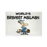 Humorous Mailman Rectangle Magnet