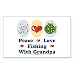Peace Love Fishing With Grandpa Sticker