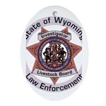 Wyoming Brand Inspector Oval Ornament