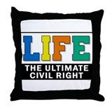 Unique Abortion stops a beating heart Throw Pillow