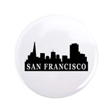 "San Francisco Skyline 3.5"" Button (100 pack)"