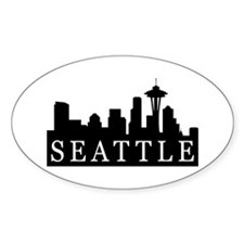 Seattle Skyline Oval Decal