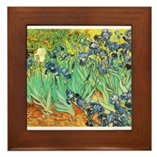 Van Gogh Irises Framed Tile
