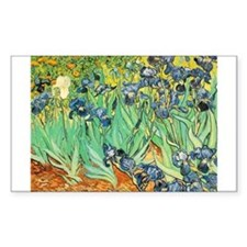 Van Gogh Irises Rectangle Decal