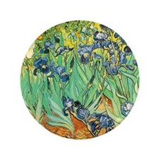 "Van Gogh Irises 3.5"" Button"