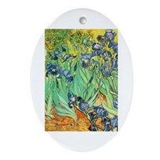 Van Gogh Irises Oval Ornament
