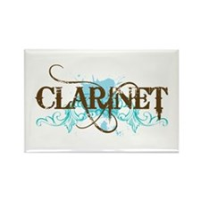 Clarinet Grunge Rectangle Magnet