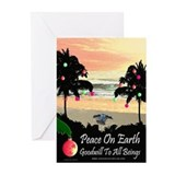 Tropical Peace Christmas Cards (Pk of 20)