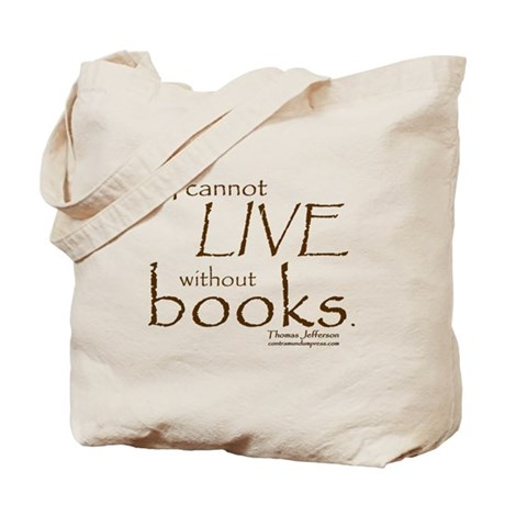 Without Books Tote Bag
