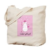 Winter Golf Girl - Tote Bag