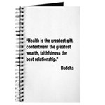 Buddha Greatest Gift Quote Journal