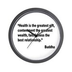 Buddha Greatest Gift Quote Wall Clock
