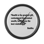 Buddha Greatest Gift Quote Large Wall Clock