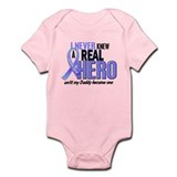 Never Knew A Hero 2 LT BLUE (Daddy) Onesie