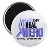 Never Knew A Hero 2 LT BLUE (Dad) Magnet