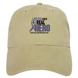 Never Knew A Hero 2 LT BLUE (Dad) Baseball Cap