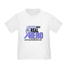 Never Knew A Hero 2 LT BLUE (Dad) T