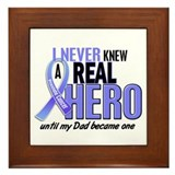 Never Knew A Hero 2 LT BLUE (Dad) Framed Tile