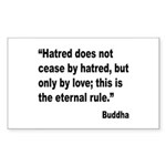 Buddha Stop Hatred Quote Rectangle Sticker 10 pk)