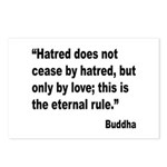 Buddha Stop Hatred Quote Postcards (Package of 8)
