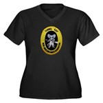 Tunnel Rat Women's Plus Size V-Neck Dark T-Shirt