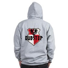 Dubstep Records Cotton Zip Hoodie, steel