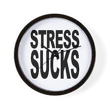 Stress Sucks Wall Clock