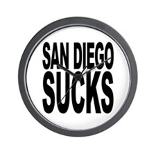 San Diego Sucks Wall Clock