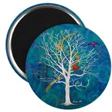 """Tree for dreaming"" 2.25"" Magnet (1"