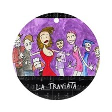 La Traviata Ornament (Round)