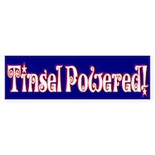 Tinsel Powered Bumper Bumper Sticker