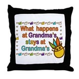 What Happens at Grandma's Throw Pillow