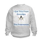 Grandpa's gift to me! Kids Sweatshirt