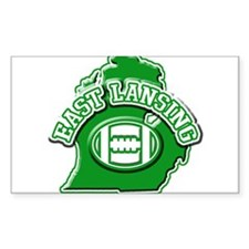 East Lansing Football Rectangle Decal