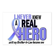 Never Knew A Hero 2 LT BLUE (Brother-In-Law) Postc
