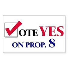 Vote YES on Prop 8 Rectangle Decal