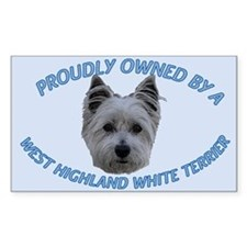 Proudly Owned Westie (2) Decal