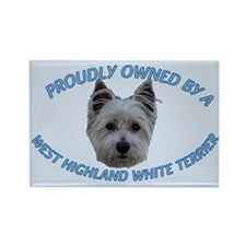 Proudly Owned Westie (2) Rectangle Magnet