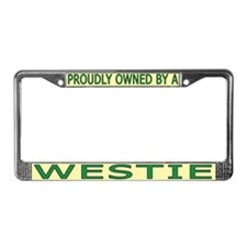 Proudly Owned Westie (1) License Plate Frame