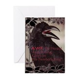 Raven Christmas - Greeting Card