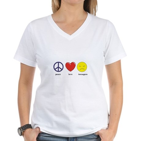 Teenagers Women's V-Neck T-Shirt