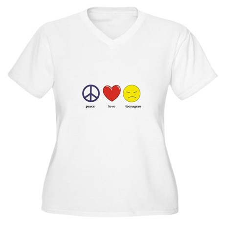 Teenagers Women's Plus Size V-Neck T-Shirt
