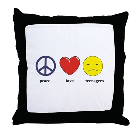 Teenagers Throw Pillow