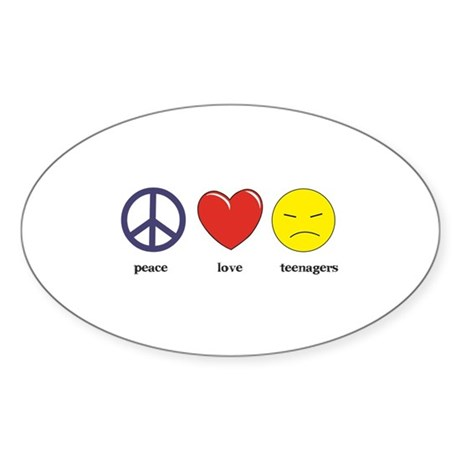 Teenagers Oval Sticker
