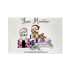 Yappy Howlidays Rectangle Magnet (10 pack)