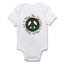 Christmas World Peace Infant Bodysuit