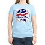 Support Our Troops (Front) Women's Pink T-Shirt