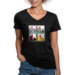 Cochins! Women's V-Neck Dark T-Shirt