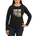 Cochins! Women's Long Sleeve Dark T-Shirt